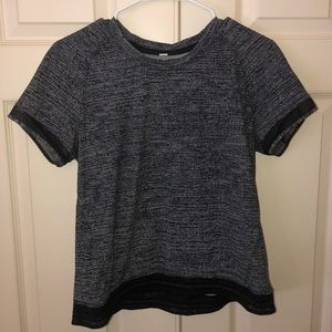 Lululemon Stripe in Stride Short Sleeve top size 6